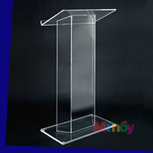 Modern Design Transparent High Quality acrylic pulpit, acrylic podium, acrylic lectern