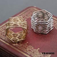 New alloy 2 Finger Rings Dinner Ring Fashion Rings