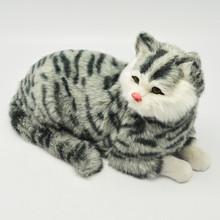 imitate fur lie cat sleeping cats fur animal 28cm