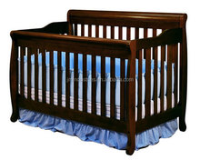 american styled new born baby bed, solid wooden convertible baby crib set