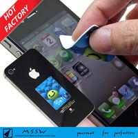 magic Custom full color printed microfiber mobile sticky screen cleaner