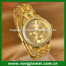 Mens and Women Unisex Luxury Band Gold Stainless Steel Wrist Watches