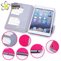 FL044 new model factory hot selling stand pouch leather case for ipad mini