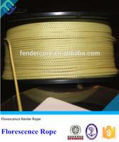 100% Kevlar aramid fiber braid roller rope with chemical resistant properties