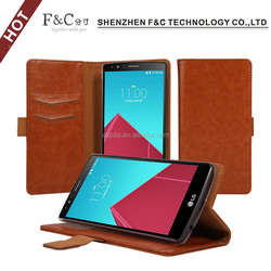 Wholesale factory new product wallet pu leather case for LG G4 leather case