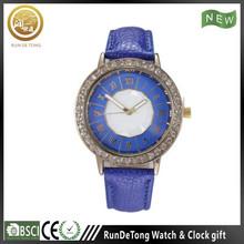 Generous diamond round case roman numberals polygon dial wrist watch walkie talkies