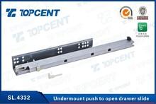 Touch open full extension undermount drawer slide