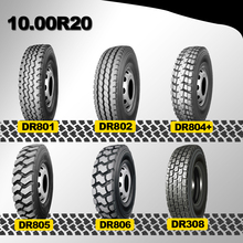 clear tyre truck on&off road 10.00R20 tyre truck