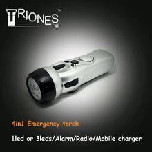 (160090) Dynamo radio and alarm function earthquake use led emergency light
