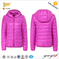 2015 winter hotsale womens ultra thin foldable duck down jacket