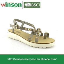 Casual Fashion Nail Upper Ladies Sandals For 2016 Design Sandals Shoes For Women