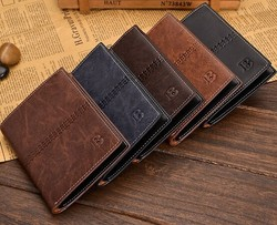 Men wallets famous brand new 2015 male money purses New classic pattern designer Soft Fashion Card Holder Case Leisure wallet