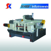 CNC spindle less wood barker/log lathe/wood peeling machine