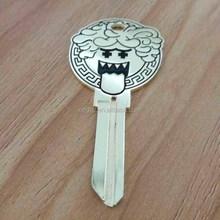 custom shape key engraved logo tag metal