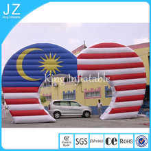 2015 hot sale outdoor advertising Inflatable Arch inflatable heart arch