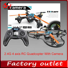new products 2.4G 4 axis RC Quadcopter with 6 axis gyro and camera toy