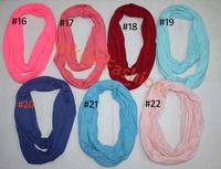 Baby TODDLER solid Pink jersey knit Infinity Scarf PHOTO PROP