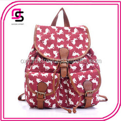 Ladies Classic Colorful Pattern Canvas Backpack Back to School Bags