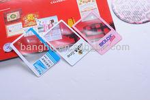 Wholesale advertising illuminated magnifier card