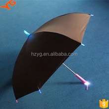 solar charger LED promotional printed patio parasol umbrella