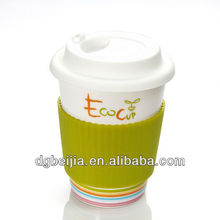 high food grade silicone mug with sleeve and lid wholesale price BJ-M002