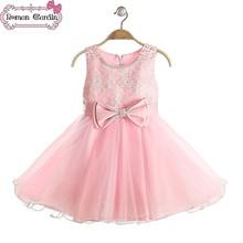Vestido de partido del bebé venta al por mayor de los niños boutique de bordado de la ropa de la flor con de la perla