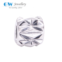 Silver Beads Triangle Geometry 925 Sterling Silver Jewelry Wholesale Charms European Fits European Bracelet