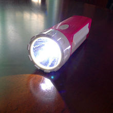 GG8001 Led and tube Solar rechargeable flashlight