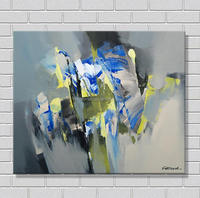 Modern decoration abstract geometric art texture painting
