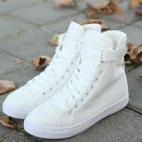 W70121G 2015 South Korean women fresh wind plain casual fashion casual denim high-top canvas shoes