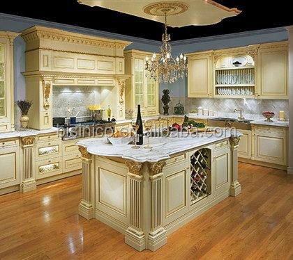 Bisini Luxus massivholz handgeschnitzt birke küchenschrank ...