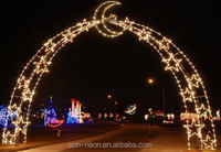 Outdoor Led Arch Motif Lights Led Christmas Light Street Decoration Arch Lights With Star Decoration