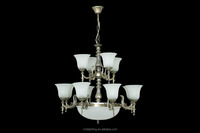 Coozen vintage wrought iron big chandelier lighting fixtures for hotel/villain decoration Chinese direct manufacturer
