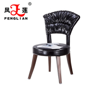 hot sale PU leather hotel banquet chair with metal legs