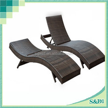 S.D garden beach pool adjustable back part outdoor sun loungers made in Shangdi