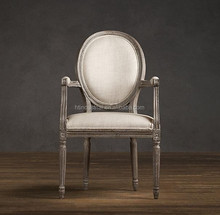Dining chair,Louis,Antique,French,White wash finish solid wood frame and legs,HT13-045F