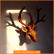 Antique Resin Craft Deer Head For Wall Decoration