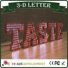 Energy Saving China supply acrylic channel letters/shop signs