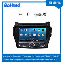 For Hyundai IX45 Santa Fe 2014 USB 3g Wifi GPS Mp3 Radio FM Bluetooth Android 4.4 Car DVD Player