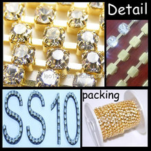 SS10 New Round Cup Chain crystal rhinestone chain