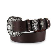 Moyi Brown Women's Classic Leather Belt