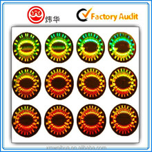 Circle 3d Laser Hologram Paper Self Adhesive Labels Sticker