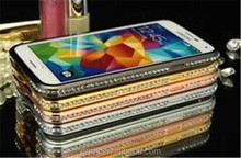 Alibaba China New Fashion Bling Shining Crystal Aluminum Diamond Metal Hard Bumper Frame Case for Samsung Galaxy S5 i9600