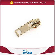 custom gold metal zip slider