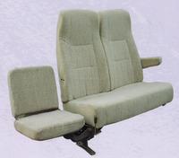 Comfortable foldable passenger seat for bus coach