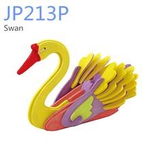 DIY wooden puzzle swan