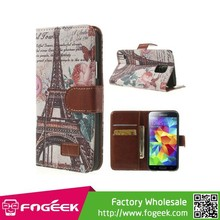 Magnetic Leather Flip Cover w/ Card Slots & Stand Case for Samsung Galaxy S5 G900