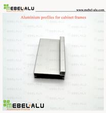 Hot Aluminium Products Flat Surface Anodized Silver Finish Aluminium Kitchen Frame Profile