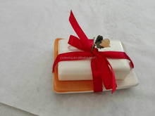 Promotion Gift Decorative soap With dish and silks package