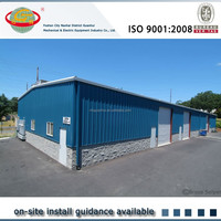 Very fast constructed light steel frame shed for sale